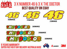 VALENTINO ROSSI N 46 & THE DOCTOR STICKER. 6 STICKERS FOR YOUR BIKE, CAR, LAPTOP