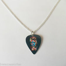 "DAVID BOWIE guitar pick plectrum SILVER TONE CURB CHAIN NECKLACE 24"" curb chain"