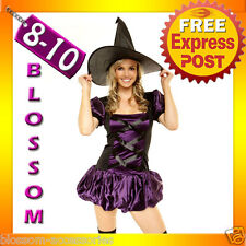 8344 Witch Halloween Dress Costume Outfit Stocking 8/10