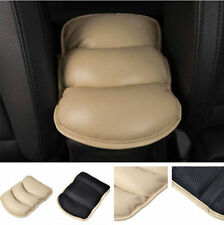 PU Beige Car SUV Armrest Center Console Pad Cushion Cover Support Top Mat Liner