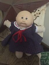 Cabbage Patch 1985 Preemie Baby Girl Pacifier Bald Brown Eyes