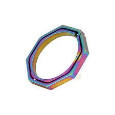 1x Colorful Titanium Keyring Quickdraw Pocket Octagonal Ring Keychain Tool EDC