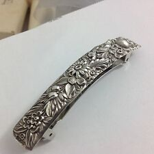 Sterling, Silver, Hair Barrette, Hand Crafted, Kirk Repousse
