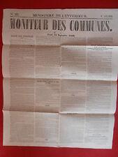 JOURNAL LE MONITEUR DES COMMUNES MINISTERE DE L'INTERIEUR 37 - 15 SEPTEMBRE 1959