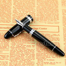 Luxury Jinhao 159 Black And Silver M Nib Thick Fountain Pen Hot