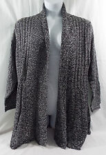 Women's Plus Size Fan Tailed Cardigan 1X Studio Works in Black & White