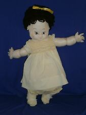 Vintage Soft Sculpture Hand Made Stocking Doll 22 inch Nice!