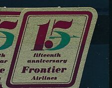75912)  Luftpost Aufkleber AIR MAIL Label USA  15 years...FRONTIER AIRLINES