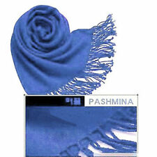 Royal Blue Womens Cashmere Silk Solid Long Scarf Pashmina Shawl Wrap winter warm