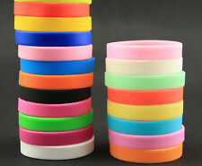 100 Pcs multicolor mixed Wristband Silicone Promotion Filled Bracelet gifts m-09