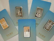 5) 10~GRAM ~.9999 SILVER ~ALL 5 ! ~ PAMP SUISSE ~ RELIGIOUS SERIES BARS ~ $98.88