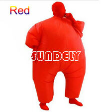 RED Inflatable Fat Chub Suit Fancy Dress Party Adult Costume Cosplay Jumpsuit