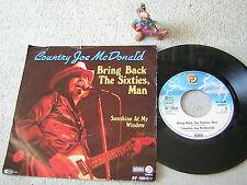 """COUNTRY JOE McDONALD Bring Back The Sixties, Man 1979 GER 7"""" + PS FANTASY"""