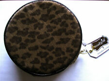 NEW MUD PIE  NET-A-PORTER ROUND LEOPARD JEWELRY CASE OR CLUTCH BAG