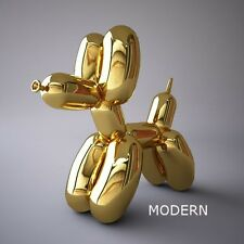 POP ART BALLOON DOG FIGURE | METALLIC FINISH | GOLD + JEFF KOONS POSTER
