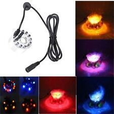 12 LED light Ultrasonic Mist Maker Fogger Water Fountain Pond Indoor Outdoor C4