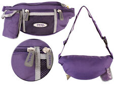 Ladies Purple Canvas Bum Bag From Jeep With Phone Pouch New And Sealed