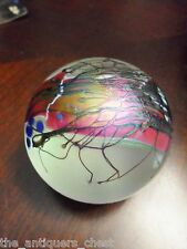 Glasshouse Iridescent with Purple Glass Paperweight US 1990, WAL10016[2]