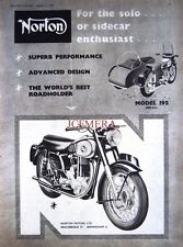 1956 NORTON 'Model 19S' Motor Cycle Combination AD #2 - Original Print ADVERT