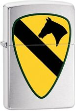 Zippo 2016 Catalog NEW US Army 1st Cavalry Brushed Chrome Lighter 29184 NEW