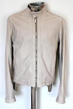 Dirk Bikkembergs Leather Jacket Grey EU48 Medium / Large RRP £870 coat