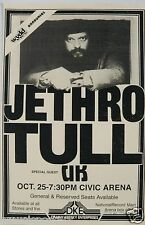 """JETHRO TULL 1979 """"STORMWATCH TOUR"""" PITTSBURGH CONCERT POSTER - Ian Anderson"""
