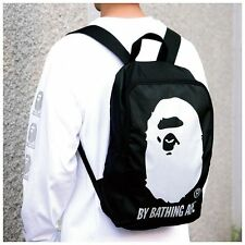 Brand New A Bathing Ape Bape Head Knapsack Rucksack Bag