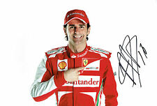 Pedro De La ROSA SIGNED Autograph F1 FERRARI Racing Photo AFTAL COA