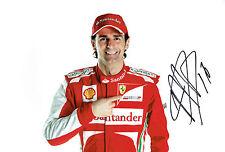 Pedro De La ROSA SIGNED Autograph F1 FERRARI Racing Photo AFTAL COA