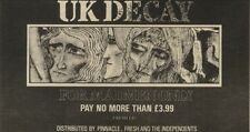 21/11/81PGN26 ADVERT: UK DECAY NEW SINGLE FOR MADMEN ONLY 4X7