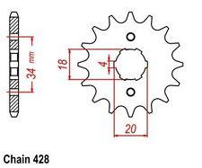 KR Ritzel 13Z Teilung 428 DERBI Cross City 125 07-08 New... front sprocket