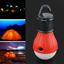 Outdoor Portable Hanging LED Camping Tent Light Bulb Fishing Lantern Lamp RED