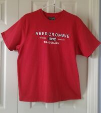 ABERCROMBIE & FITCH Men's Classic Short Sleeve Red T-Shirt~Size Extra Large