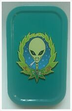 """New Teal colour Slim 1oz Hinged Tobacco Tin """"Join Together"""""""