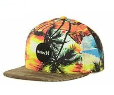 Hurley Flammo Snapper Tropical Palm Trees Beach Surf Adjustable Snapback Cap Hat