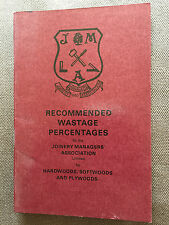 "1985 ""RECOMMENDED WASTE PERCENTAGES"" SMALL THIN PAPERBACK BOOK"