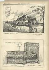 1904 Proposed Village In Near Newmarket French Furniture Commode And Cabinet