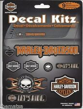 HARLEY DAVIDSON MOTORCYCLES 9 ASSORTED STICKER DECAL SET MADE IN USA