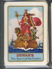 "Playing Swap Cards 1 VINT WIDE BRITISH ""DEWAR'S "" SCOTCH  WHISKY ADVT D85"