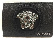 Versace unisex silver metal medusa head plate accessory for a bag,wallet,jeans
