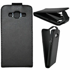 Black Flip Magnetic PU Leather Skin Protective Case Cover For Samsung Galaxy J3