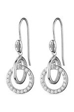 Charles & Colvard Moissanite Interlocking Earrings 0.38cttw DEW