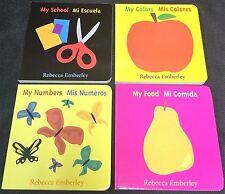 Lot 4 ENGLISH Spanish ESPANOL Baby TODDLER Board BOOKS New LEARN Emberley WORDS
