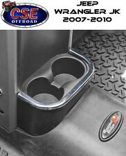 11156.18 Rugged Ridge Chrome Rear Cup Holder Trim Jeep Wrangler 2007-2010