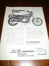 KAWASAKI Z-1  900 RC ENGINEERING 1132 cc   10.97  1/4 MILE  ***ORIGINAL AD***