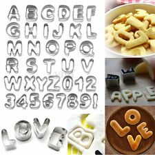 37pcs Alphabet Cutter Number Letter Fondant Icing Cake Decorating Cookie Mould