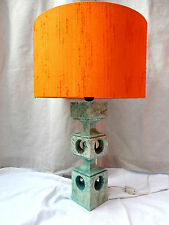 "Rare 70´s "" looking through "" design Alabaster Lampe ITALY original lamp shade"