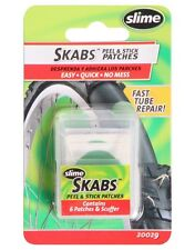 SLIME SKABS SKAB GLUELESS BICYCLE TIRE TUBE REPAIR PEEL STICK PATCH KIT Patches