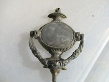 Vintage Brass Door Knocker Ram Head Architectural Floral Wreath Urn Old