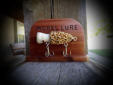 MOREL MUSHROOM LURE DECOY DEER ANTLER HAND CARVED FOLK ART